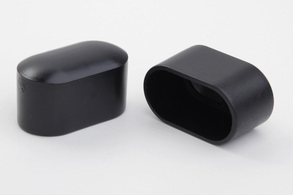 12 Stück Stuhlbeinkappe Stuhlbeinschutz Bodenschutz, 38 x 20 mm, schwarz, aus Kunststoff