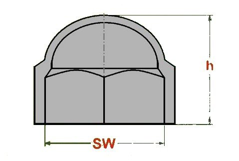 20 Stück - M4 – Schlüsselweite 7 SW7 - WEISS - Sechskant | Schutzkappe | Abdeckkappe Sechskantschutz