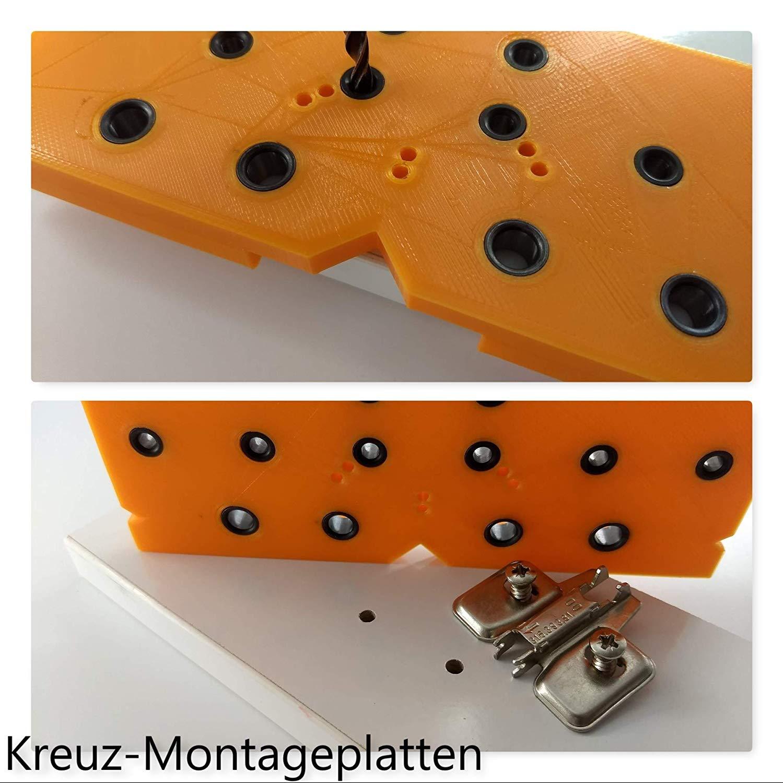 Flex.One Plus Flexible Kombi. Bohrschablone 7 Funktionen z.B.: Lochreihe Topfband