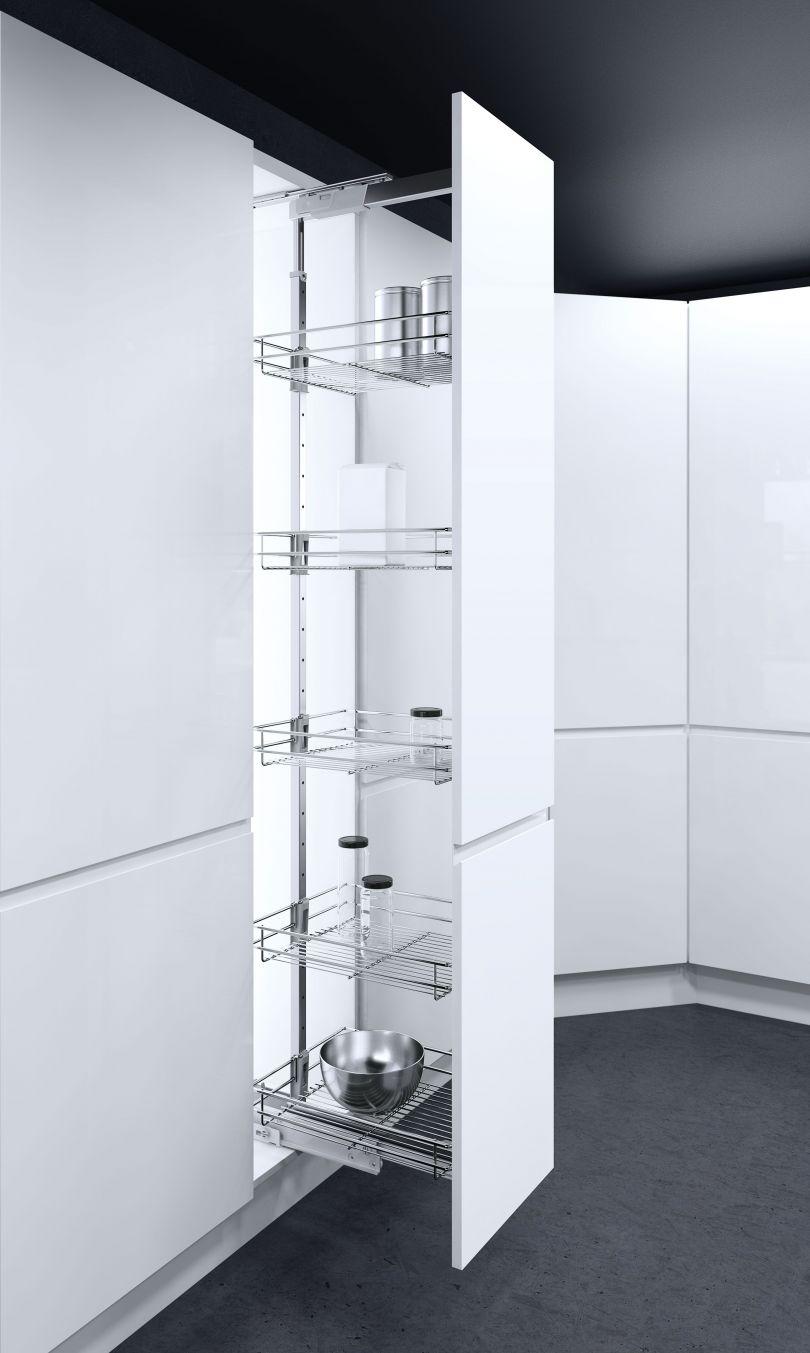 Vauth-Sagel© Hochschrankauszug HSA Apothekerauszug Schrankausstattung 1450-1700 mm Breite 300 mm 4 K