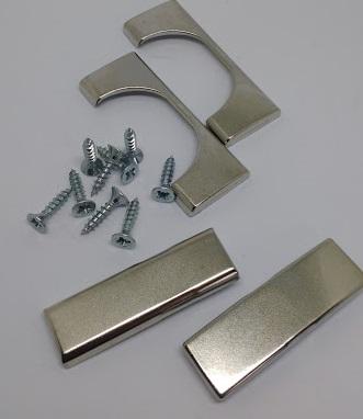 Premium Scharnierset - 2 Scharniere - Möbelbänder mit int. Dämpfung - Blum inkl. Montageplatten, Sch