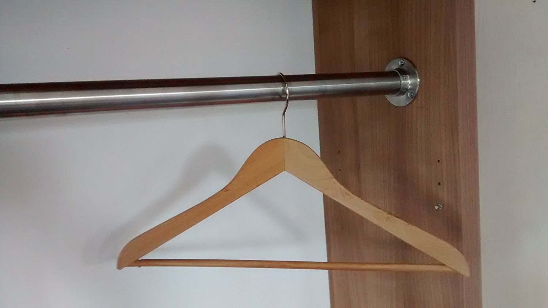 1800 mm / 180 cm Kleiderstange aus V2A Edelstahl