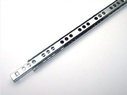 1 Schubladenschiene Teilauszug Rollenauszug Teleskopschiene Kugelführung L 430mm Nut 17x10mm
