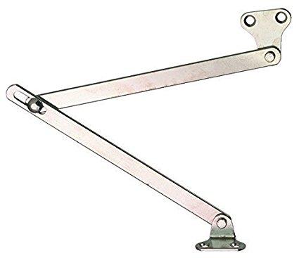 2 Stück Klappenhalter Bremsklappenhalter Klappenbeschlag mit Schlitzführung im Gelenk | für Klappen