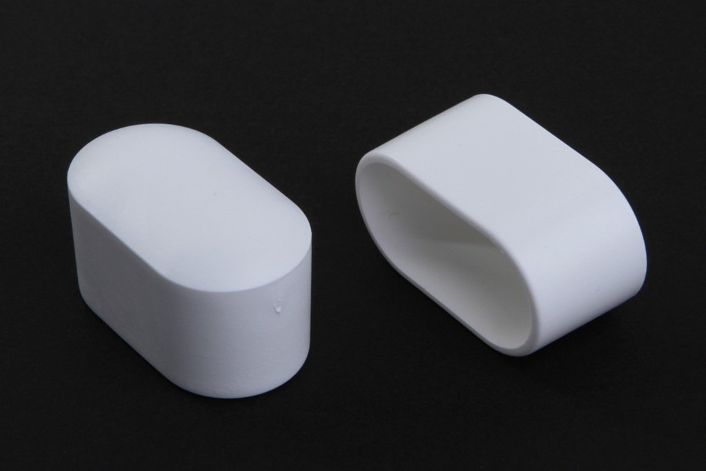 12 Stück Stuhlbeinkappe Stuhlbeinschutz Bodenschutz, 30 x 15 mm, Weiss, aus Kunststoff