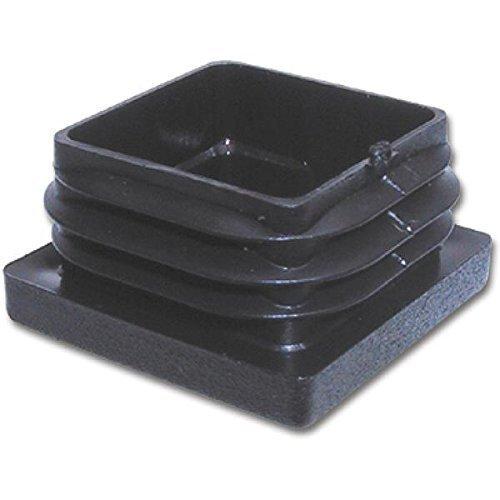20 Stck. Lamellenstopfen Rohrstopfen Pfostenkappen Eckig 12 x 12 mm Schwarz