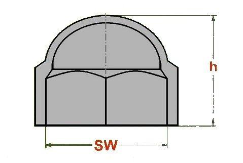 100 Stück – M8 – Schlüsselweite 13 SW13 - WEISS - Sechskant | Schutzkappe | Abdeckkappe Sechskantsch
