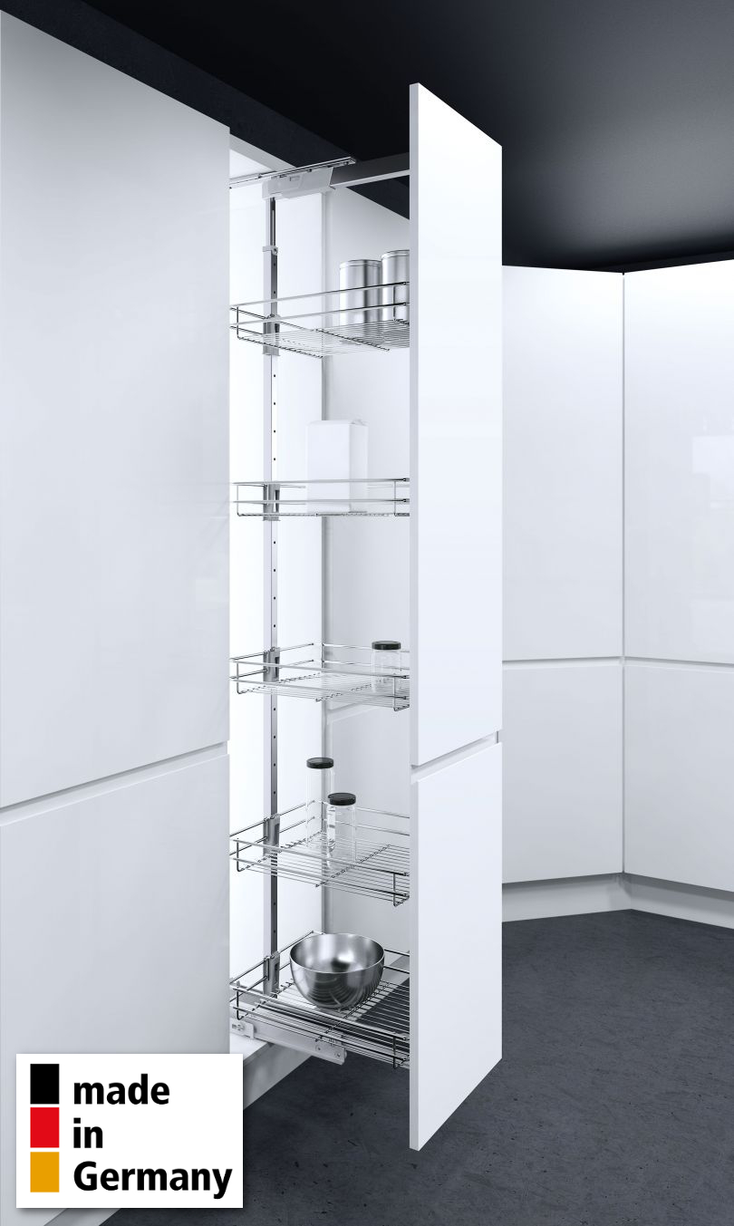 Vauth-Sagel© Hochschrankauszug HSA Apothekerauszug Schrankausstattung 1450-1700 mm Breite 400 mm 4 K