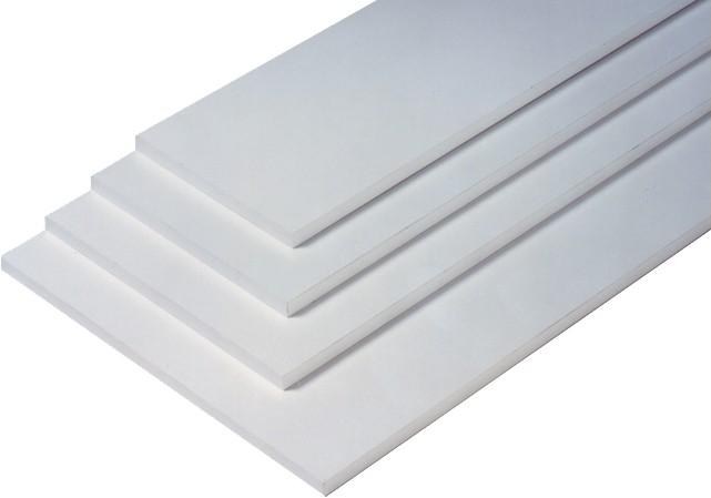 2 er Set - 2 Stück Regalboden Einlegeboden WEISS 867 x 283 mm (L 86,7 cm x B 28,3 cm) Fachboden für