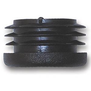 5 Stck. Lamellenstopfen Rohrstopfen Pfostenkappen Rund 50 mm mm Schwarz