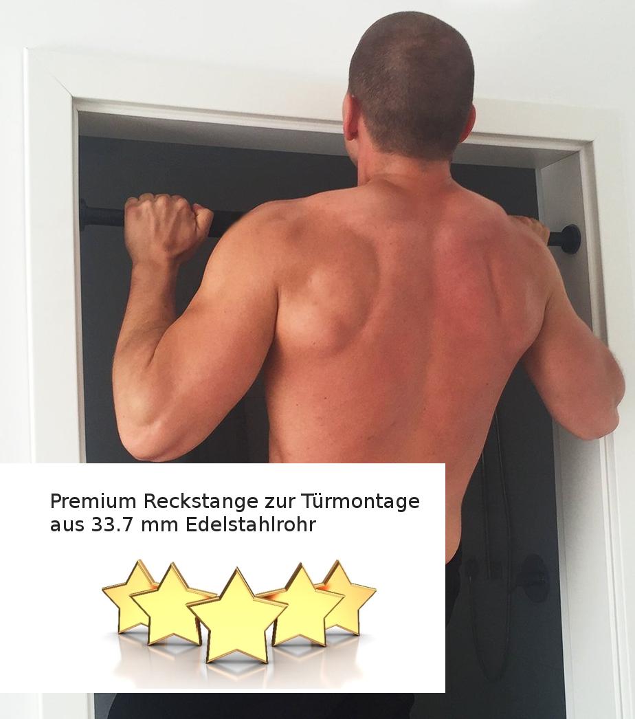 125 cm Reckstange aus Edelstahl V2A Turnstange Einzelturnreck Turnreck Kletterstange