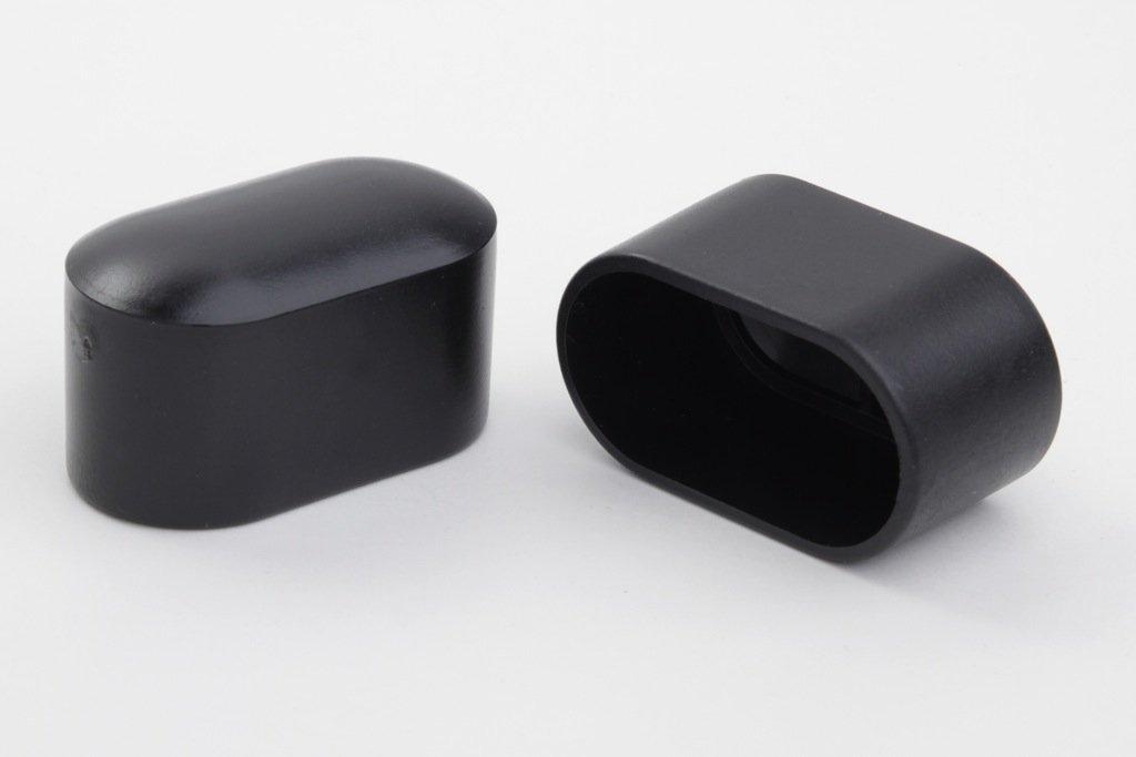 12 Stück Stuhlbeinkappe Stuhlbeinschutz Bodenschutz, 30 x 15 mm, schwarz, aus Kunststoff