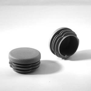 20 Stck. Lamellenstopfen Rohrstopfen Pfostenkappen Rund 70 mm Grau