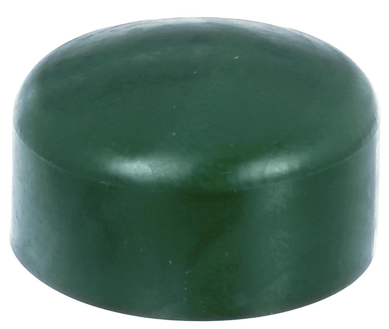 4 x Zaunkappe grün 34-35 mm, Pfostenkappe für runde Metallpfosten, grün, Rohrkappen, Abdeckkappe für